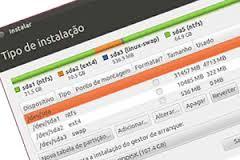 Criando tabela de partição no Ubuntu durante instalação